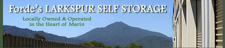 Forde's self storage in the heart of Marin